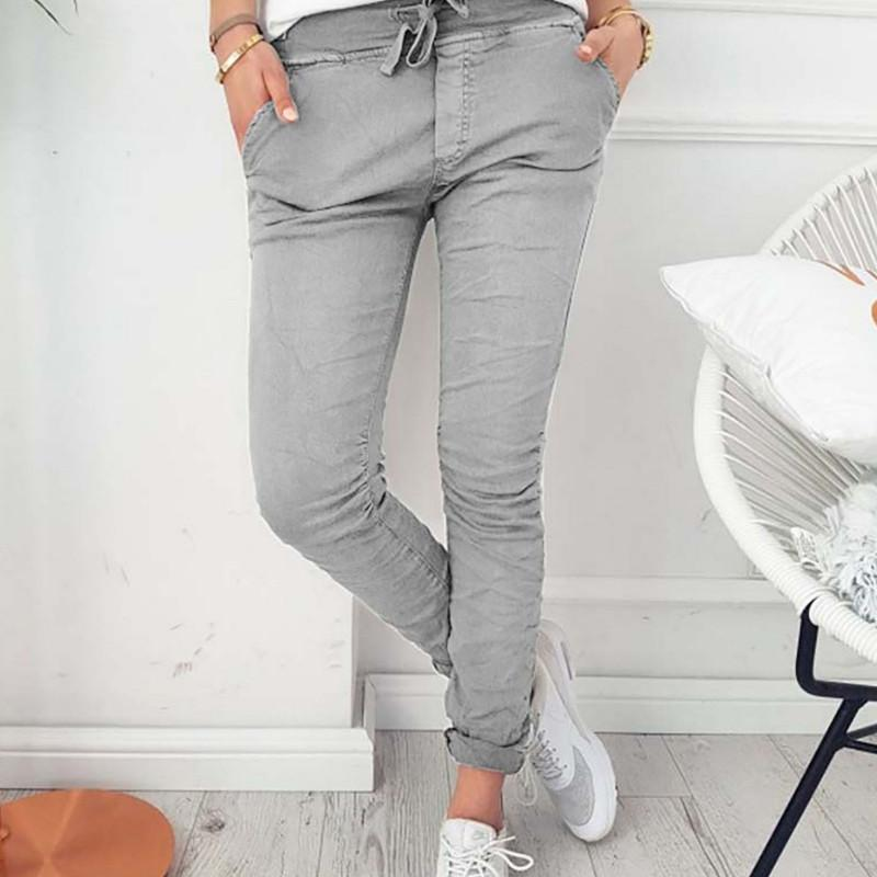 2021autumn high stretch skin slim fashion casual ladies pants Factory Outlet