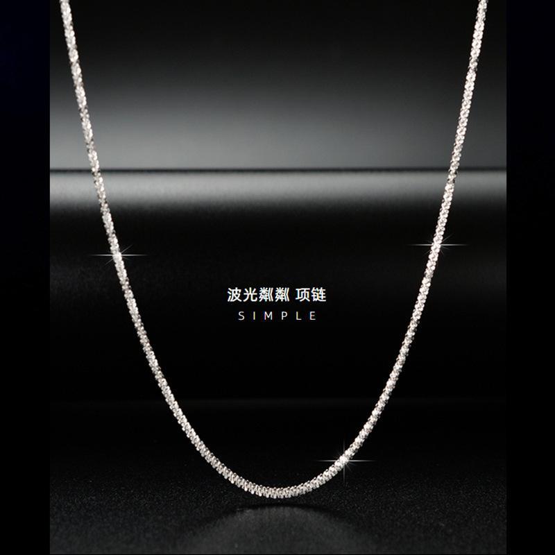 Collier 2021 Caulifoureuse simple et polyvalente étincelante Chaîne simple nue 925 Sterling Sier Nelace Clavicule pour femmes