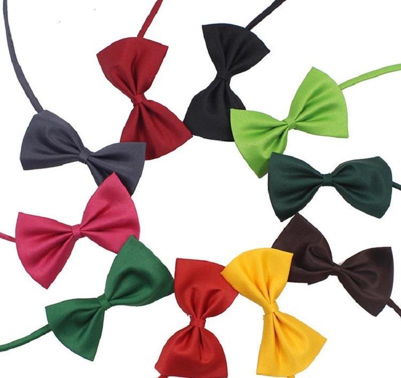 Animale domestico regolabile Bow Tie Neck Gioielli Accessorio Collana Collana Collare Cucciolo Bright Color Pets Archi Bows 10.5 * 6.5cm