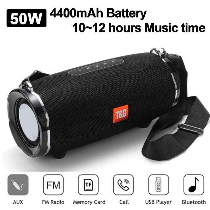 TG187 Bluetooth Speaker 50W 4400mAh Wireless Waterproof Outdoor Speakers Bar Music Center Subwoofer 3D Stereo Support USB/FM