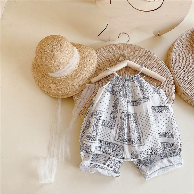 Clothing Sets Kids Girls Fashion Summer Clothes Girl Baby National Dot Print Outfits 2Pcs Children Casual Set