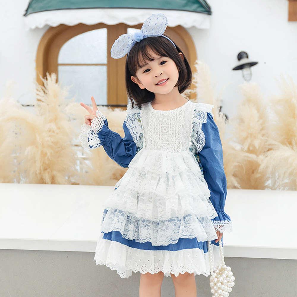 Robes Poitrents StriotingAutumn Girls 'Drys et printemps Sle Sle Cranger Daisy Princes Jupe de mode Lolita pour enfants Génération