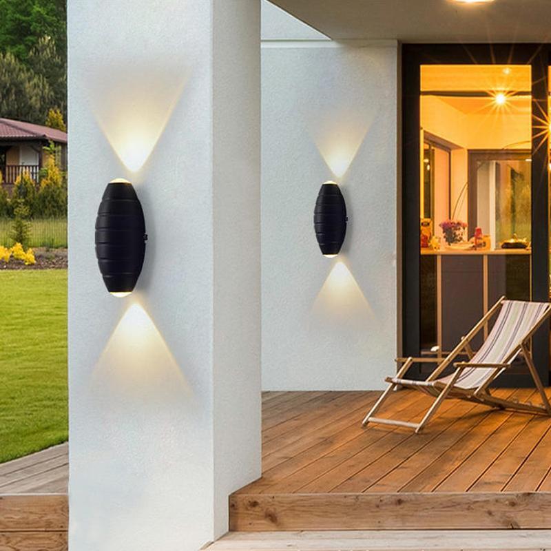 현대 야외 정원 현관 벽 램프 방수 빌라 통로 게이트 발코니 Sconce 엘 파크 빌딩 외관 조명 램프