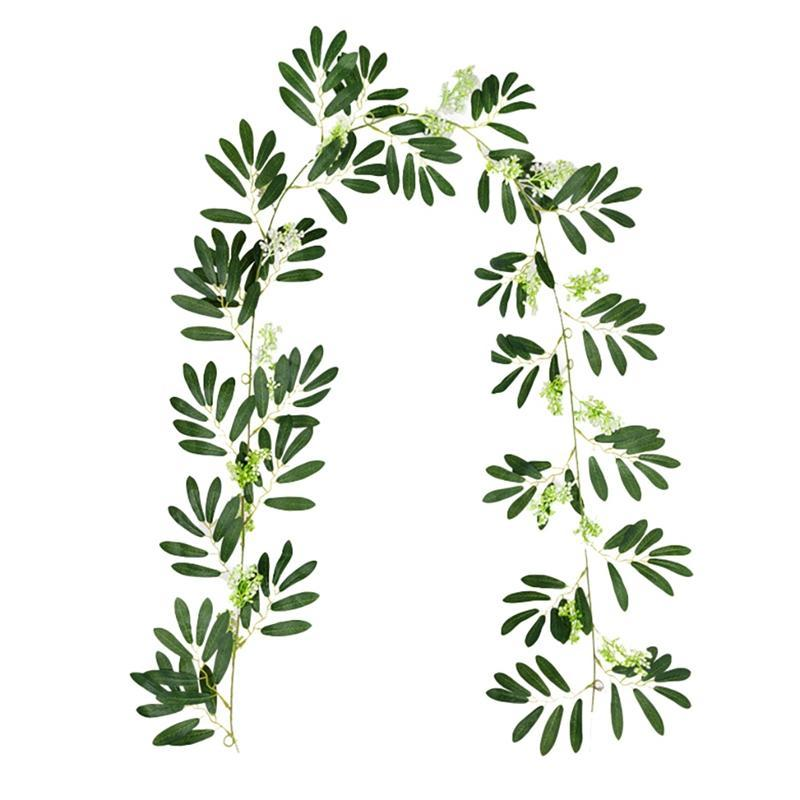 Fake Vines, Artificial Ivy Olive Leaf Plants, Garland Greenery For Home Garden Office Wedding Party Room Decor Decorative Flowers & Wreaths