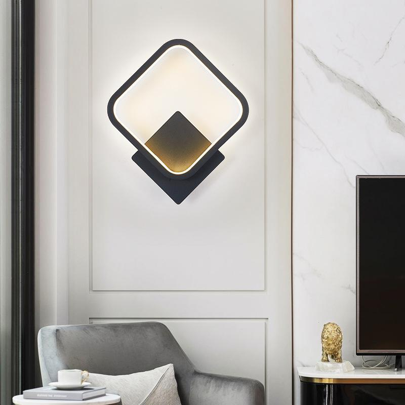 Duvar Lambası Başucu için LED Işıklar Dansta Galeri Yatak Odası Mutfak Çalışma Odası Kahve Bar Oturma Odası Kapalı Ev Aydınlatma Armatürleri