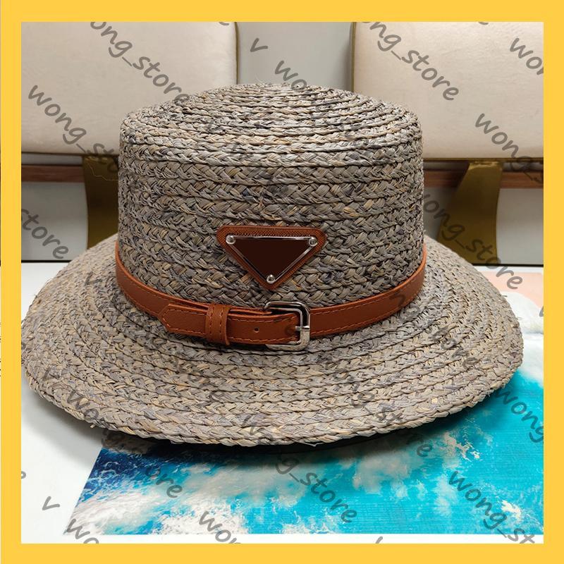 Женщины Широкие Breim Hats Brand Luxurys Дизайнеры Ведро Шляпа Элегантные Вязаные Летние Леди Шашки Бейсболка 21042004W