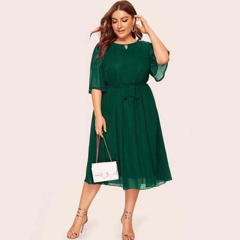 Women's Plus Size Pregnancy Dress Casual O Neck Half Sleeve Length Party Autumn Dresses Femme Robe Vestidos#30 Maternity