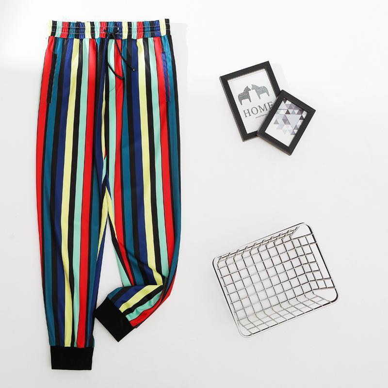 السراويل الرجال كتلة اللون الجيب 2021 أزياء الشارع الشهير عارضة السراويل ركض sweatpants الهيب هوب فضفاضة الرجال