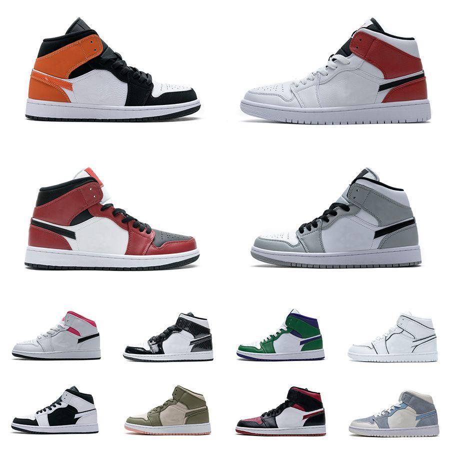 1S أحذية كرة السلة المحظورة منتصف 1 Unc جامعة الألياف الأزرق الصنوبر الأخضر رمادي كامو شيكاغو أسود تو وليد تويست استوائية تويست الأرجواني الأبيض الظل قرمزي تينت أحذية