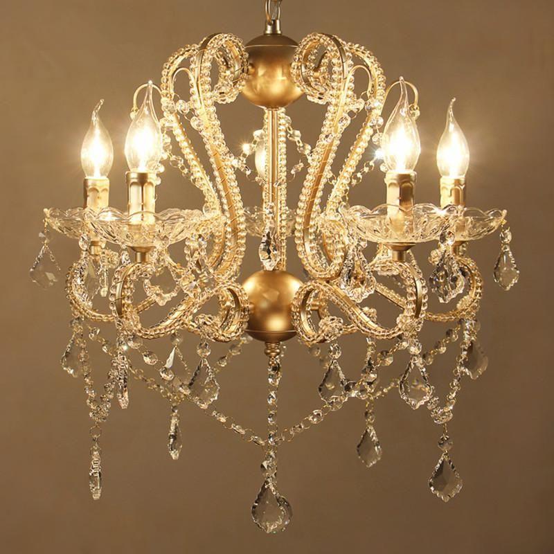 거실 침실 용 현대 크리스탈 샹들리에 K9 램프 Lamparas 드 Techo Colgante Moderna 천장 샹들리에