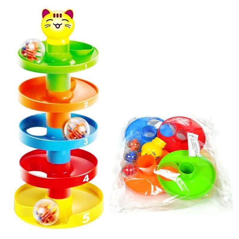 Babyspielzeug Turm Rampe Bummel Kugelglocke Spielzeug Set Säuglingsentwicklung Bildungsspielzeug 210402
