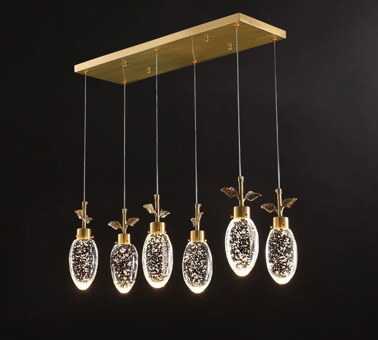 Luxury modern chandelier lighting living room smoky grey/clear crystal lamp round home cristal gold indoor light fixture