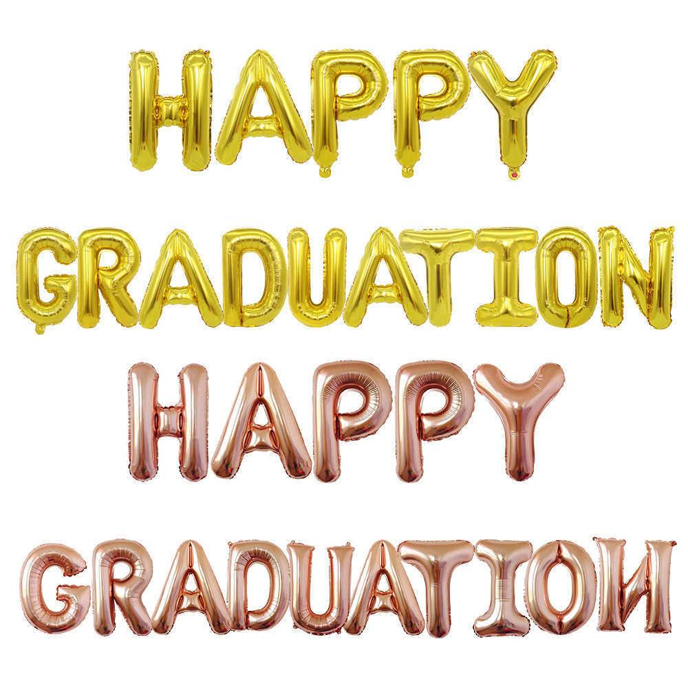 16 inch happy aluminum foil balloon set decoration for the opening party and graduation partyTLKJ