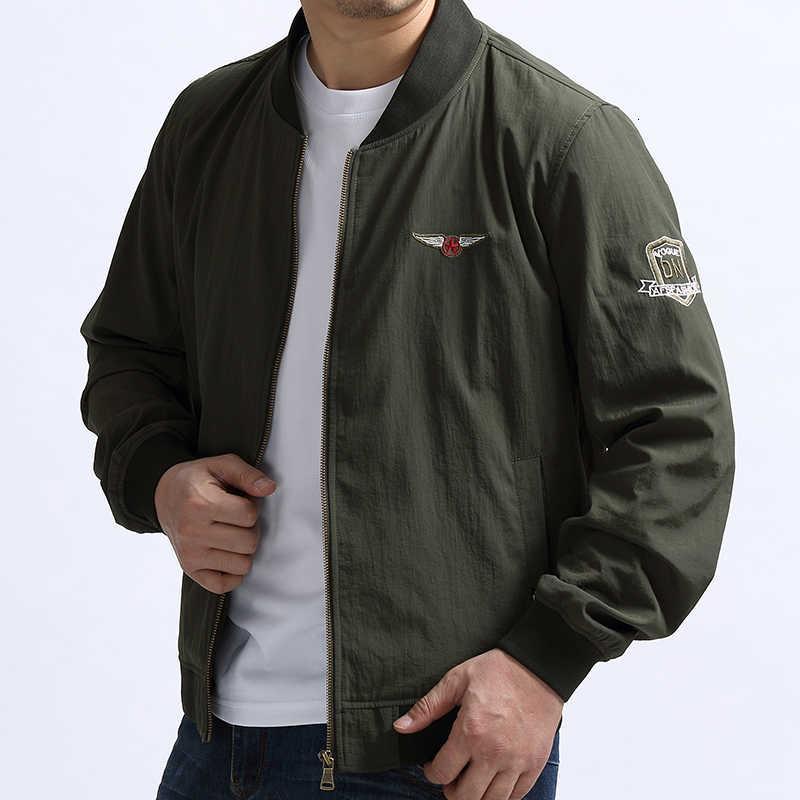 Herrenjacken Leichte Herfst-Atemnot-Spitzenkleidung Militär-tragbare Windjack-Armee Grüne Bomber-taktische Jacke 5XL plus Größe