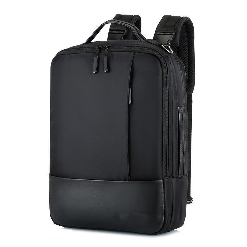 Mochila hombres de negocios hombres portátiles mochilas 15.6 pulgadas bolsas a prueba de agua USB Carga de carga Back Pack Cuaderno Black Travel Bagpack Designer