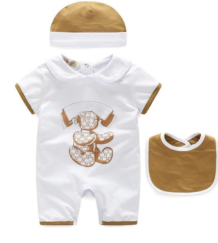 Bambini Designer Vestiti Ragazze Ragazzi Manica Corta 100% Cotton Bambini Salti Abbigliamento per neonati Abbigliamento neonato Neonati Vestiti infantili