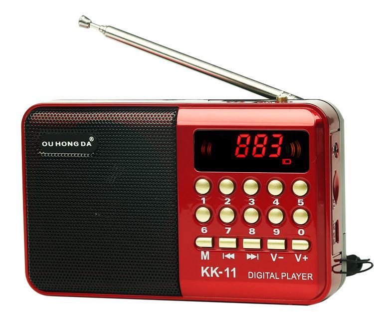 LED-Bildschirm-tragbares digitales FM-Radio USB TF-Karte MP3-Player-ältere Lautsprecher