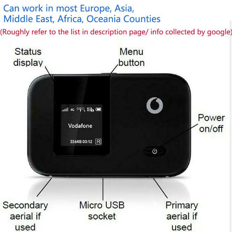 Разблокирован Huawei E5372 Vodafone R215 4G LTE Маршрутизатор FDD CAT4 150MBPS Беспроводной модем 3G WCDMA GSM WiFi USB-сеть мобильной широкополосной связи