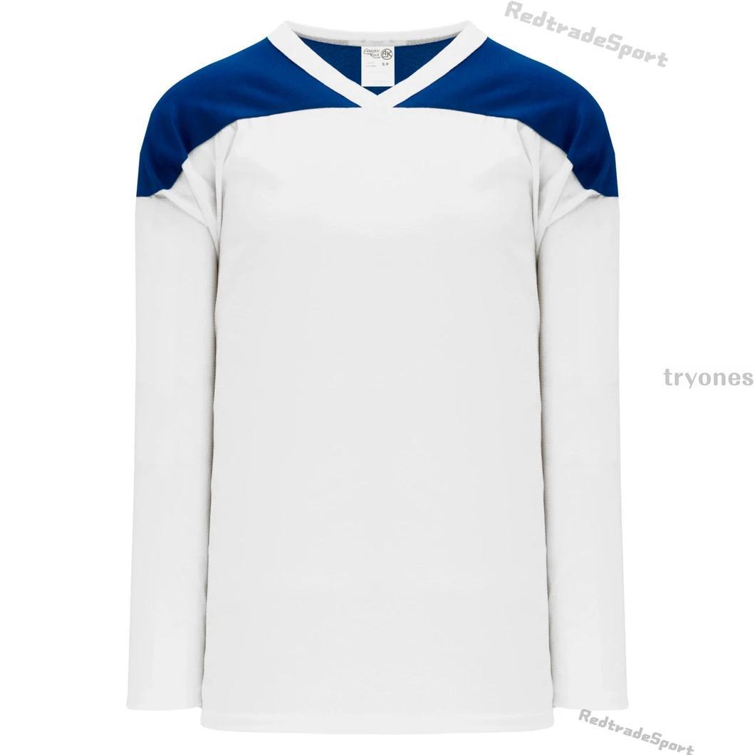 Herren Leere Hockey-Trikots Weiß Schwarz Blau Grün Anpassen Name Number Womens Kinder Jugend genäht Hemden S-XXXL A0040