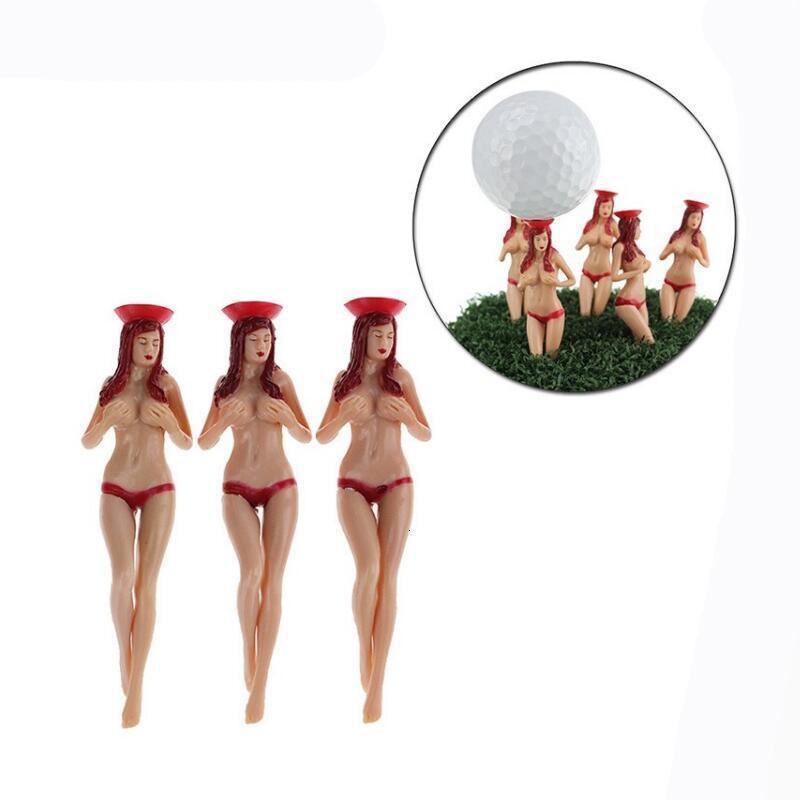 Sex Style 6pcs / Pack Taille 75mm (2.95inch) Sexy Bikini Lady Tees de golf cadeau cadeau design Derniers Design Plastic Tees de golf Accessoires de golf