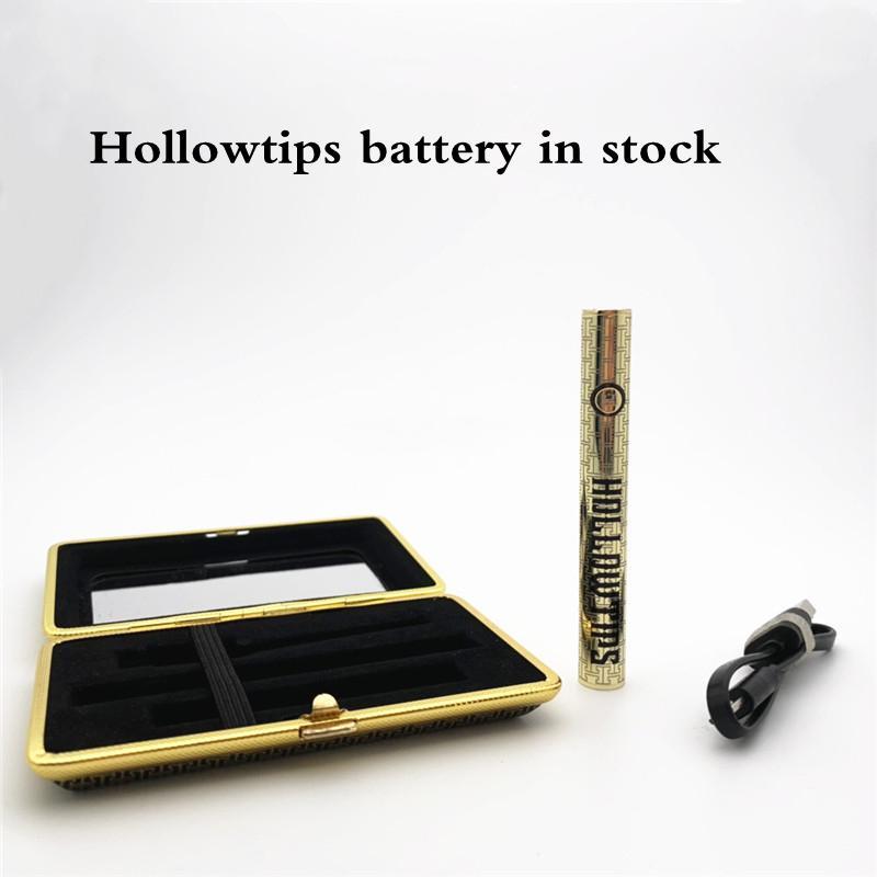100% Calidad Hollowtips Kit Ego Cartucho Vape Batería Batería Fondo 510 Hilo 380 MAH Atomizador Precaliador Vaporizador Sin fugas En stock