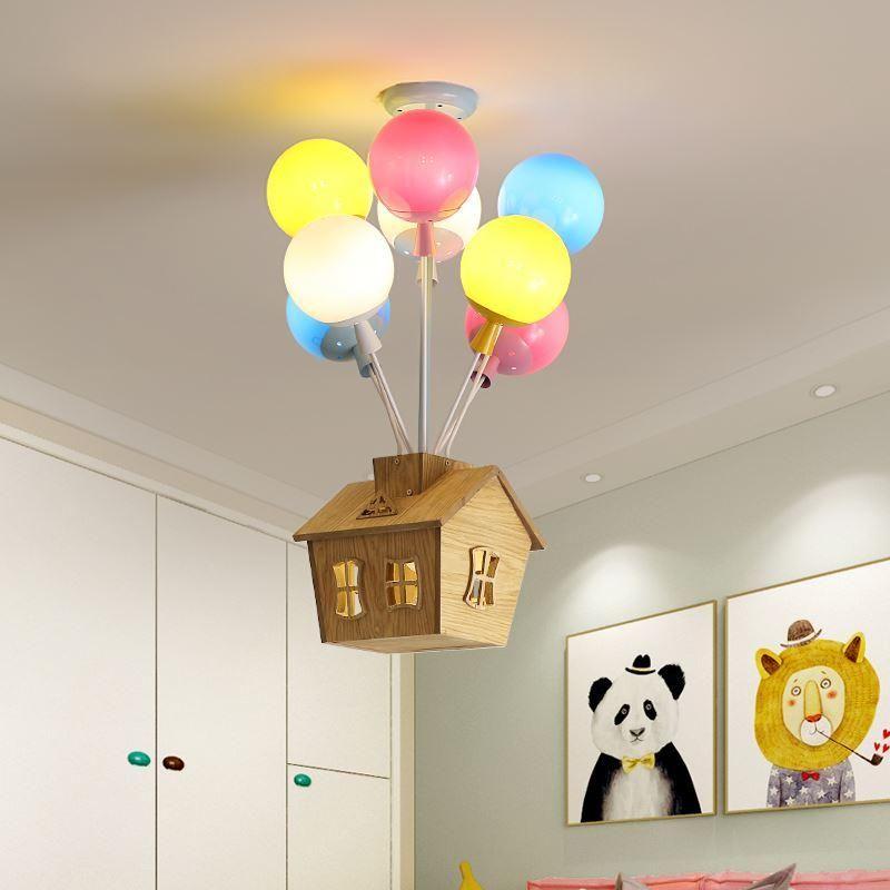 어린이 방 샹들리에 침실 생활 보육 소녀 실내 홈 아트 장식 풍선 천장 조명 샹들리에
