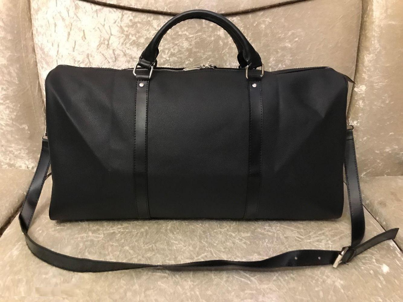 2021 Erkek Duffle Çanta Kadın Seyahat Bez Çantalar El Fermuar Bagajhepsini tutUP Erkekler PU Deri Bandouliere Çanta Büyük Çapraz Vücut Kılıfları 45 50 55 cm