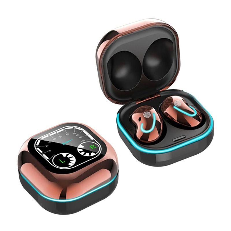 Mini Tomurcukları S6 SE Bluetooth Kulaklık Gürültü Iptal TWS Kulaklık Solunum Işık TimeTable Ekran Akıllı Telefon için Kulak Içinde Kablosuz Kulaklık Spor