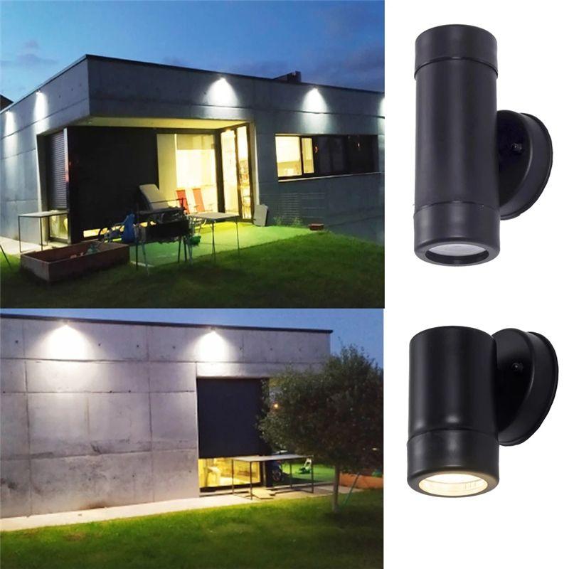 플라스틱 LED 벽 램프 GU10 소켓 야외 조명 IP65 방수 야외 건물 현관 벽 램프