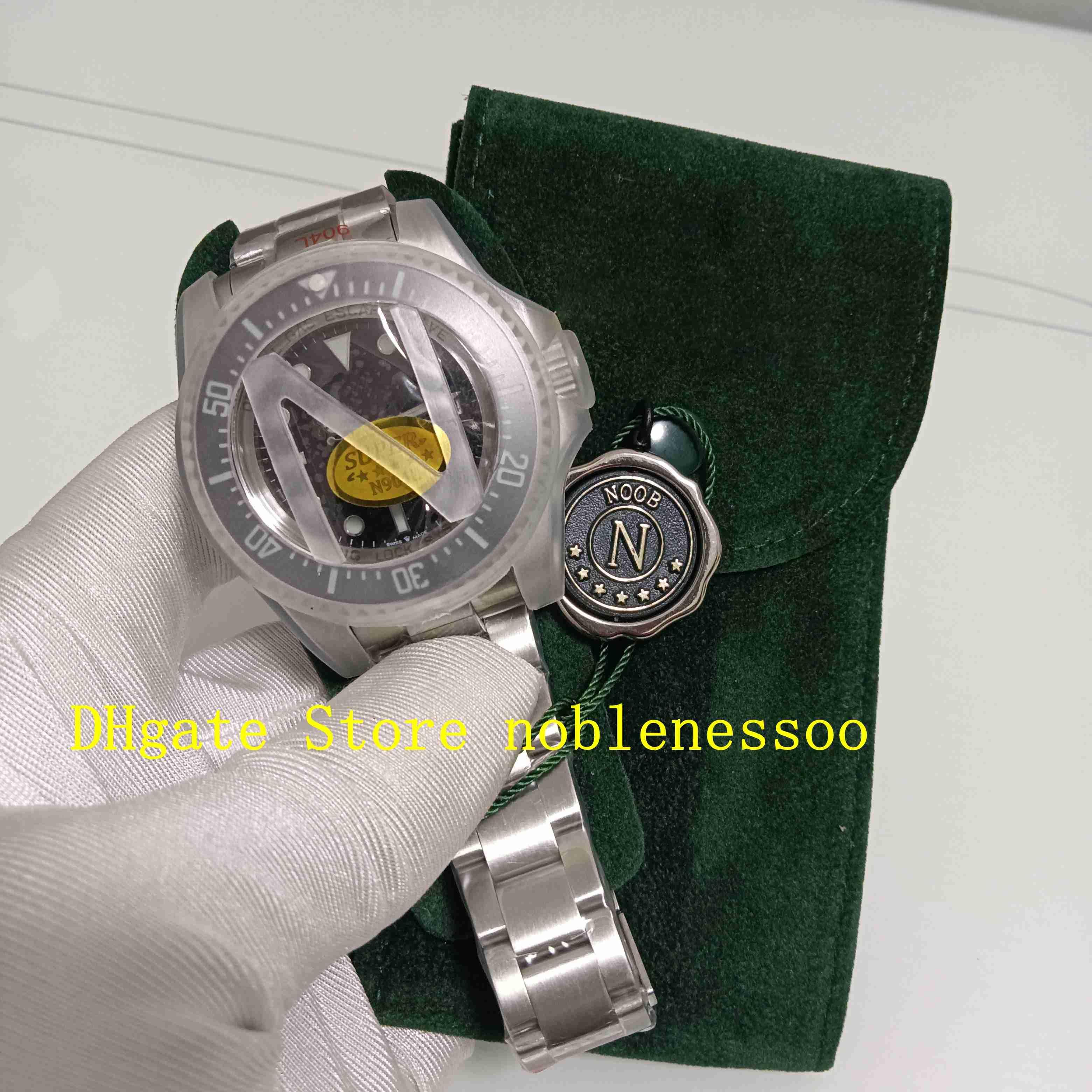 Super N Factory Watch 904L Steel Mens 44mm Negro Dial Ceramic Bezel 126660 Sapphire Glass 116660 Oyster Bracelet Noobf 2813 Movimiento Automático Mens Relojes