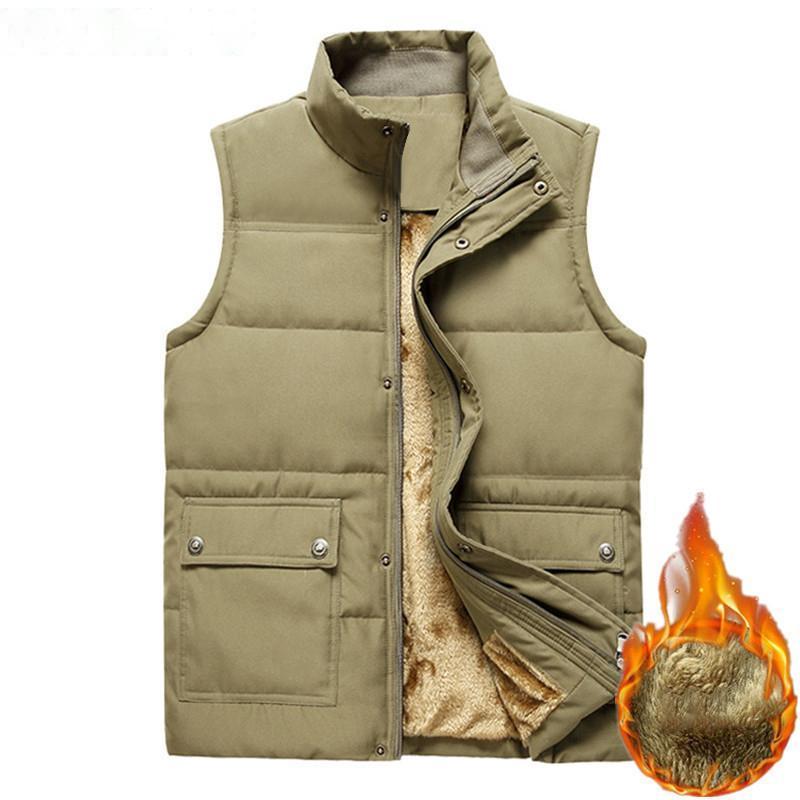 Jaquetas masculinas grande vestuário vestuário inverno colete sem mangas casaco 2021 fucking moda mais masculino warm waistcoat fleece homens top