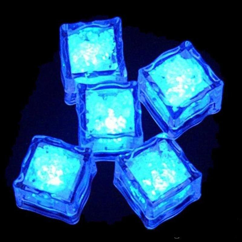 LED Buz Küpleri Bar Hızlı Yavaş Flaş Oto Değiştirme Kristal Küp Su Aktif Işık-up 7 Renk Romantik Parti Düğün Noel Hediyesi için 496