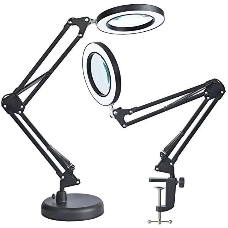 테이블 램프 USB LED 6X 현대 램프 유연한 책상 조명 돋보기 학생 읽기 연구를위한 차가운 클램프
