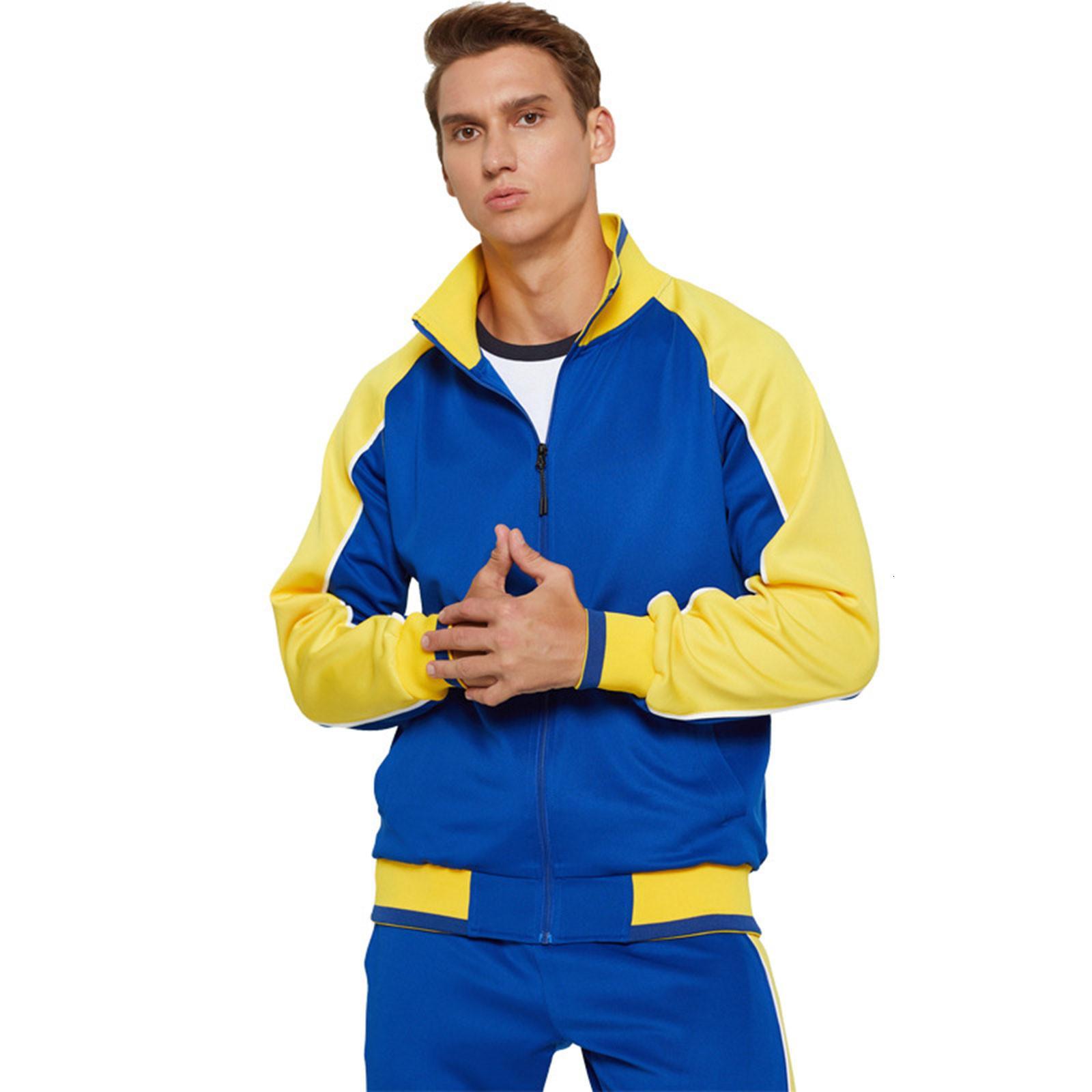 Одежда Mens X0322 Mouwen Rits Vest Мода Цвет Контрастные Наборы Пак Спортивный Обучение Костюм Тренажерный зал зима с длинным