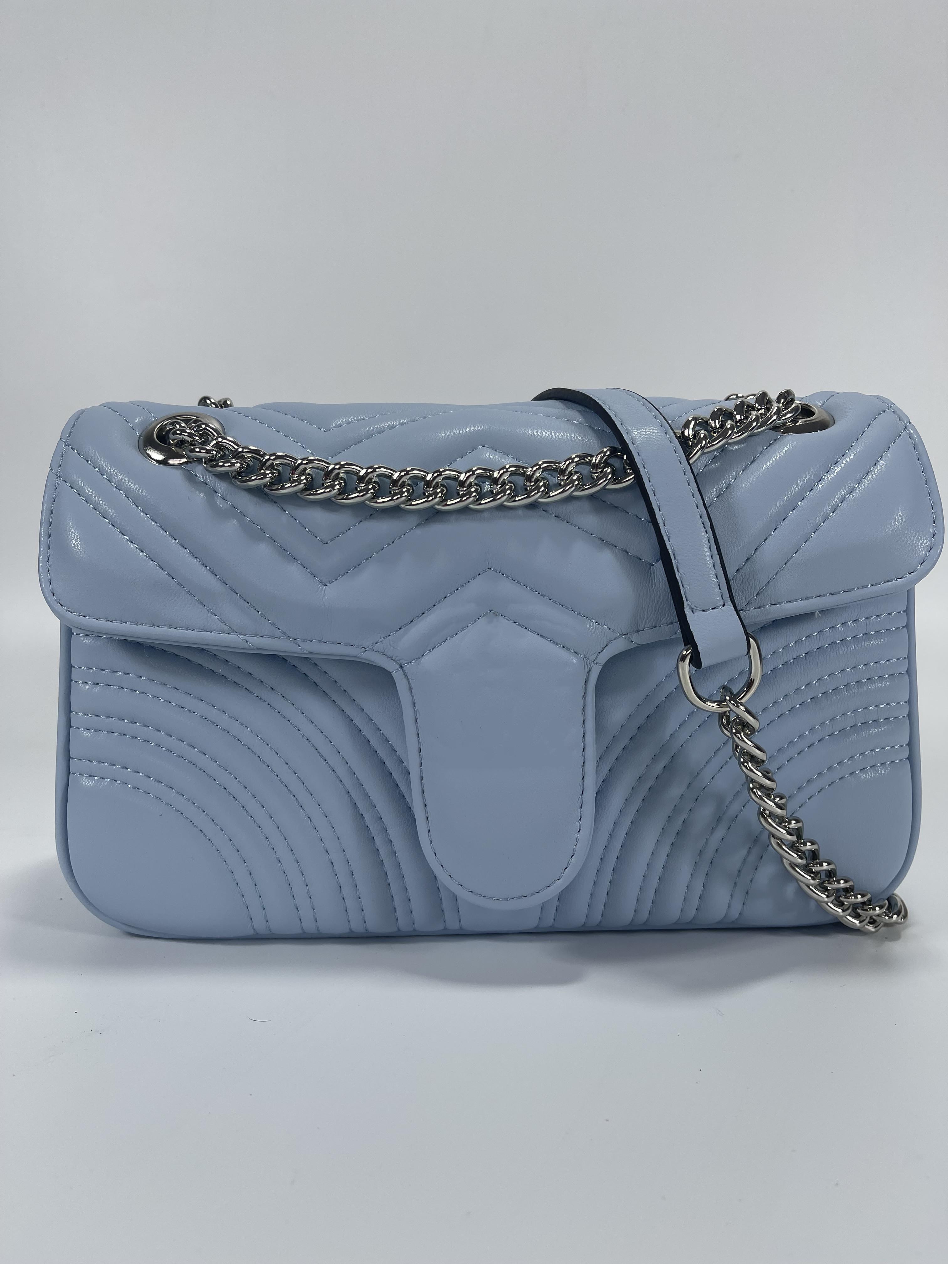 Hohe Qualität Mode Marmont 26 cm Umhängetaschen Leder und Samt Tote Kette Tasche Frauen Kreuz Körper Handtasche Geldbörse