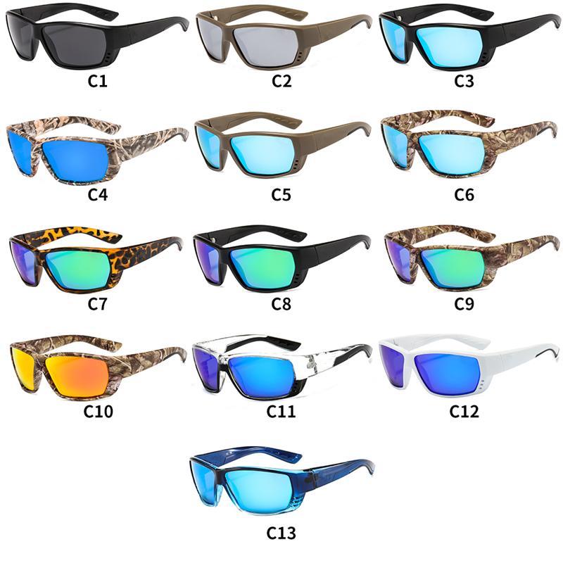 Lunettes de soleil de luxe pour hommes camouflages sports femmes lunettes surfer sur cadres colorés mode de pêche extérieur