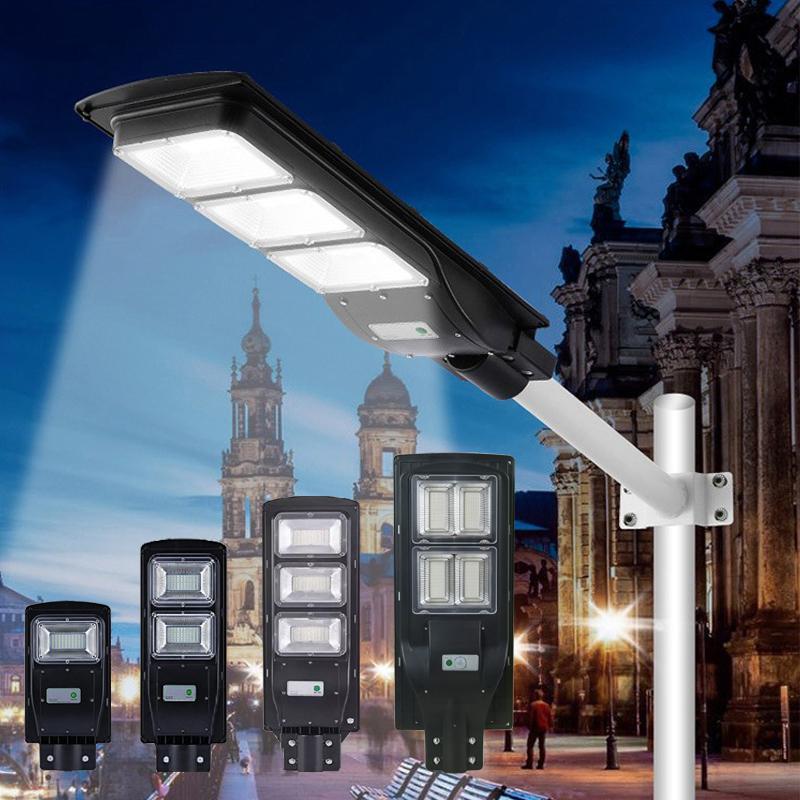 2020New Lumière solaire 3 modes imperméable IP65 PIR Capteur de mouvement PIR LED Jardin Lampes de rue en plein air