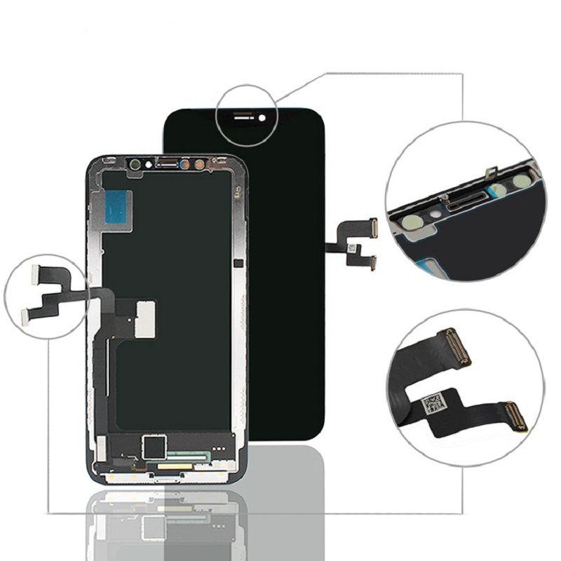 OLED Сотовый Телефон ЖК-панели экрана для iPhone X Дисплей Сенсорный Digitizer Сборка Смена Замена Запас Ремонтные детали без пакета