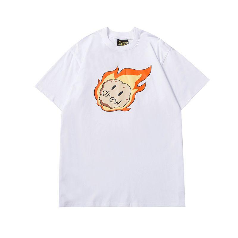 Mens camiseta Justin Bieber Asteroid Meteor Drew House High Street Manga Curta T-shirt Top Casual Moda Masculino Roupa
