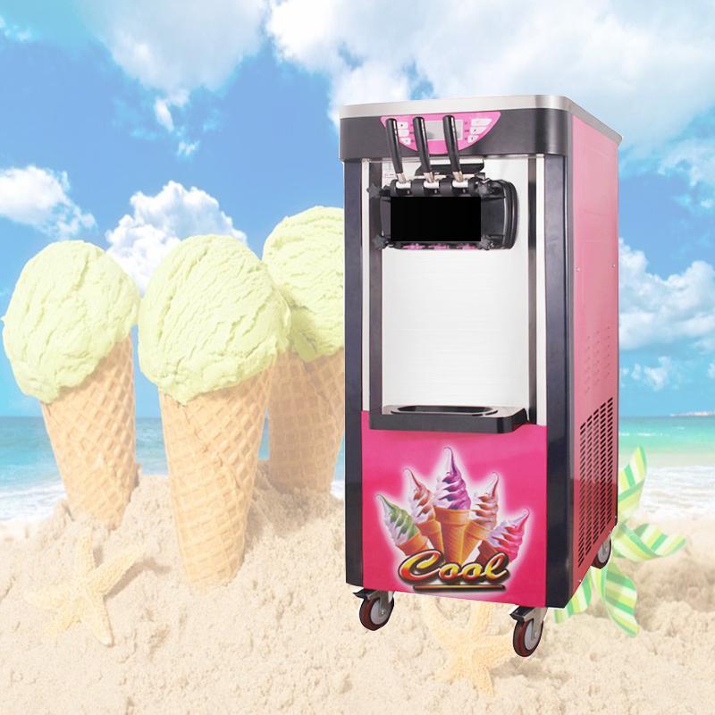 2+1 three flavor sundae soft ice cream machine