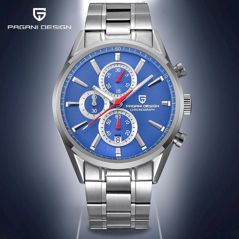 Saatı 2021 Pagani Tasarım Kuvars erkek Saatler İşlevli Moda Saatler Erkek Su Geçirmez Çelik Spor Saati Erkekler Chronograph