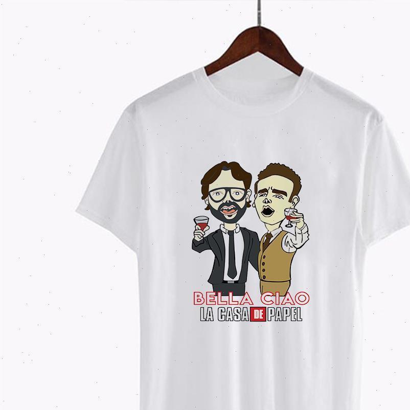 Luckyroll divertente La Casa de womens t shirt papel professore design horajuku hip hop house of paper