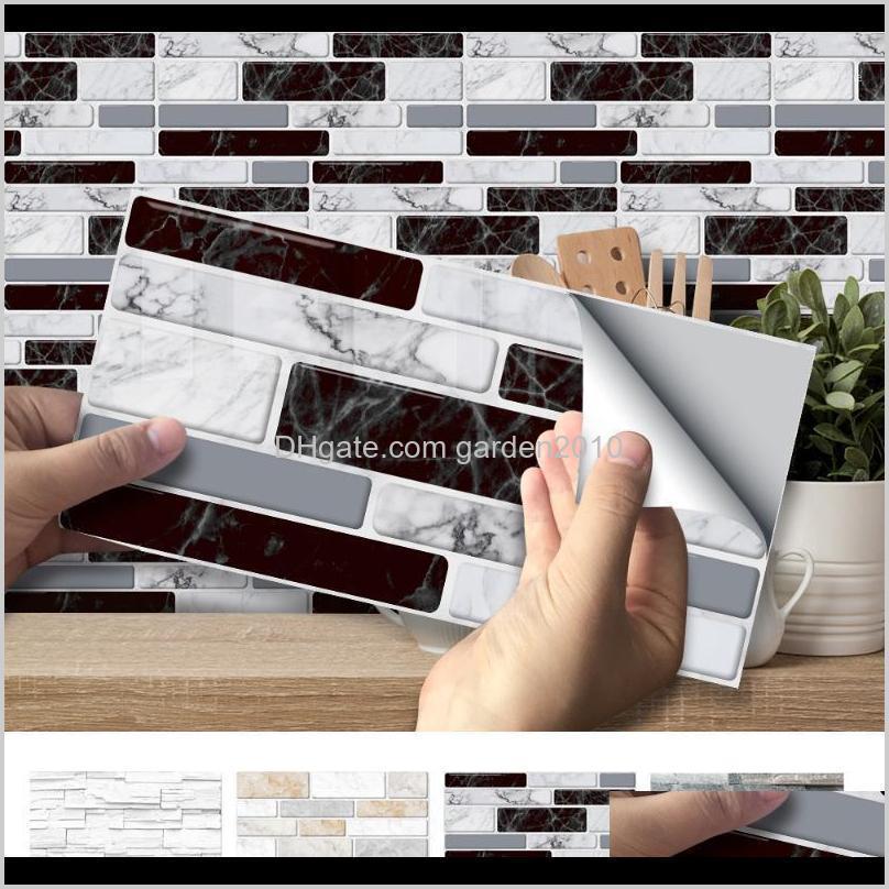 Wallpapers Décor Home & Garden Drop Delivery 2021 3D Brick Stickers Decor Foam Waterproof Wall Covering Wallpaper For Kids Living Room Diy Ba