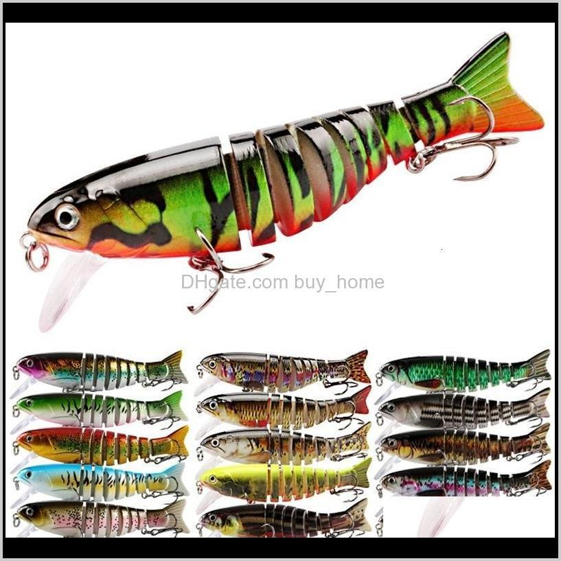 Baits Sports & Outdoors Drop Delivery 2021 3D Lures 11Cm 17G Sinking Wobblers 8 Segments Multi Jointed Swimbait Hard Bait Fishing Tackle For