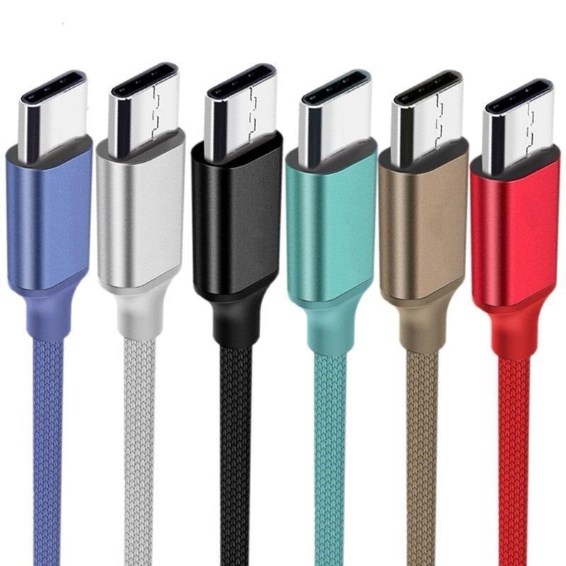 1 متر 2 متر 3 متر شحن سريع النسيج النايلون سبائك نوع c كابل مايكرو USB كابلات لسامسونج غالاكسي S6 S7 S8 S9 S10 ملاحظة 8 9 HTC LG PC