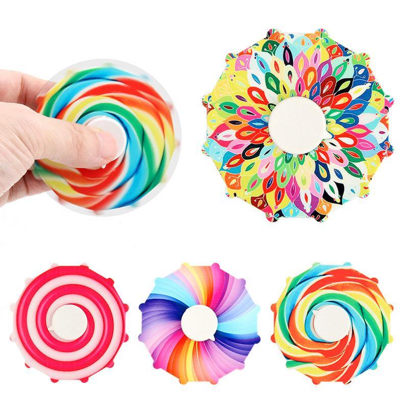 Fidget Spinner Dedo Brinquedo Candy Cor Spinners Fingertip Gyro Spinning Top Stress Relevo Descompression Descompactação Relisor Ansiedade Toys