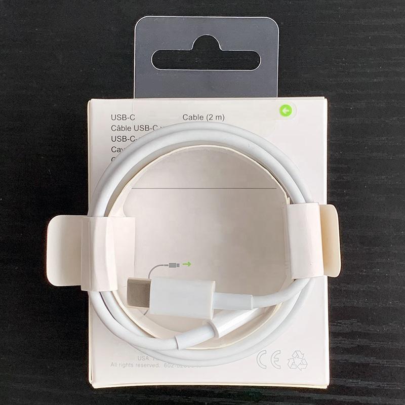 고품질 USB-C 데이터 케이블 로고 소매 상자 2M 6FT 18W PD 유형 -C 플러그 전화 빠른 충전 케이블