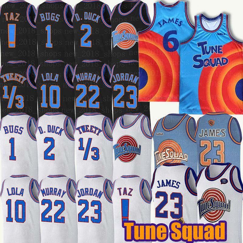 Space Jam Tune Squad Lebron 6 James Basketball Jersey Daffy Duck Threetback Bill Murray 1/3 Tweety Bird! Taz bugs bunny basketball männer jugend
