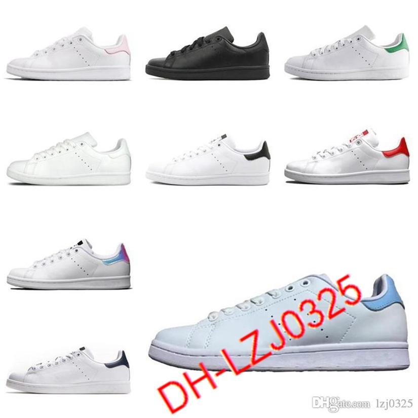 Botas para hombres Clásicos Stan Smith Mujer zapatillas planas verde blanco azul marino azul arco iris moda entrenador para hombre zapatos deportivos al aire libre 36-44 DHX-H66