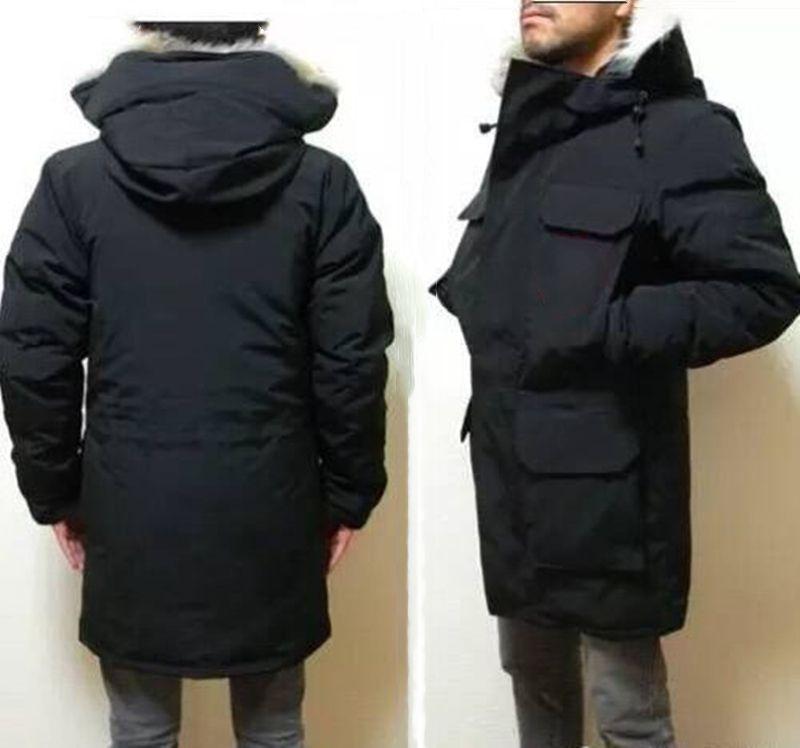 Зимняя куртка для зимы рода высочайшее качество мужские пухлые куртки большой настоящий волк мех с капюшоном толстые теплые парку дудун Homme открытые пальто пальто покрывать мода